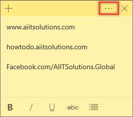 Windows 10 Sticky Notes