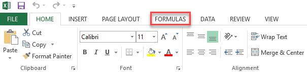 Select Formulas