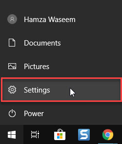 Select the Setting App