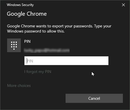 Enter your Windows PIN