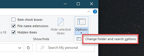 Click on the Options button