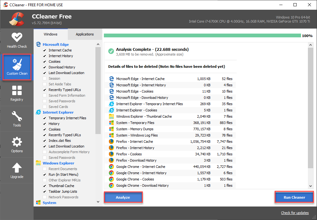 Use Ccleaner for Maintaining your Computer