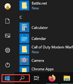 Click on the Start Menu or Search Box - Automatically Login Windows 10