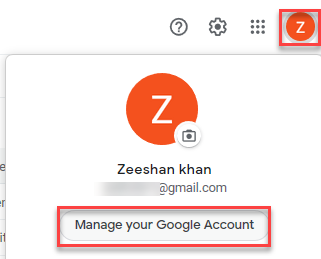 Click on Manage your Google Account -  How to Use Authy
