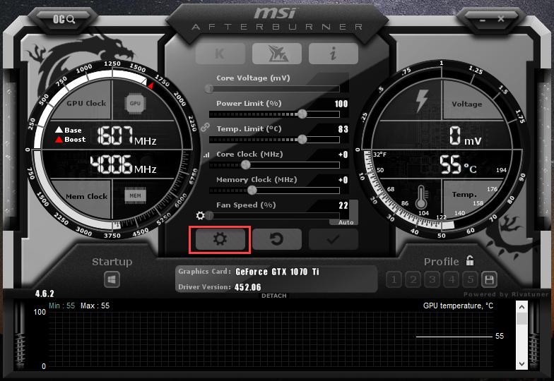 Use MSI burner to Monitor hardware temperatures