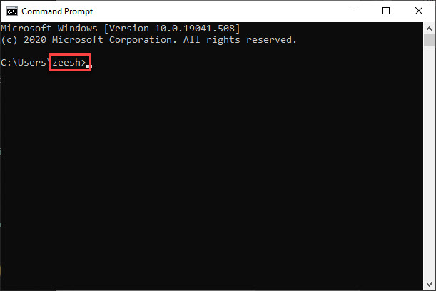 Open CMD to Find out your Username - Automatically Login Windows 10