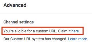Custom URL For your YouTube