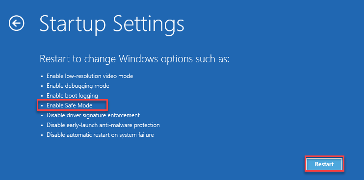 Safe Mode on Windows 11